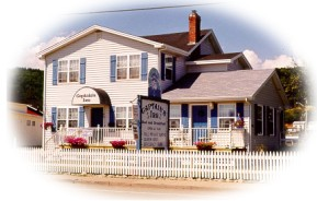 Captains Inn Bed and Breakfast in Alma, New Brunswick, beside Fundy National Park